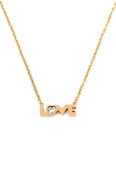 Triple Hearts Rose Gold Plated Necklace