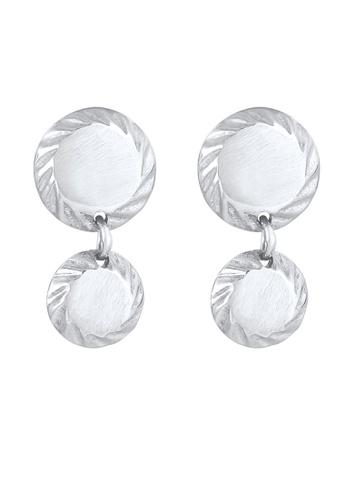ELLI GERMANY silver Disc Round Shiny Earrings B2FB3AC5973C41GS_1