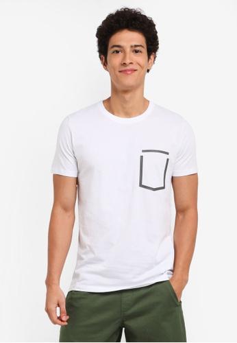 ESPRIT white Short Sleeve T-Shirt 89882AA5A98A97GS_1
