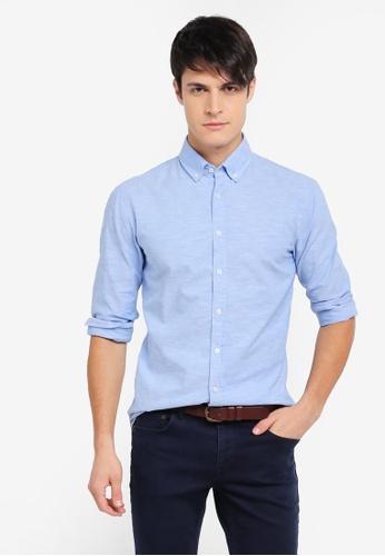 BOSS 藍色 牛津襯衫 6B0B0AA2FDD938GS_1