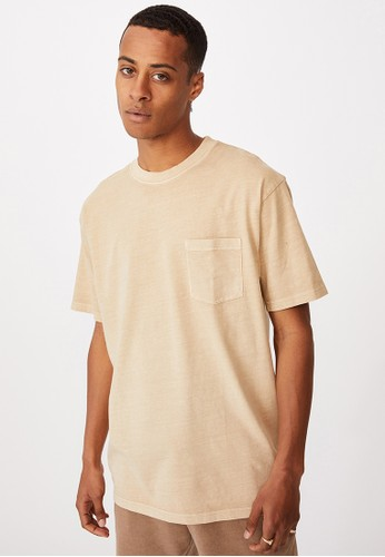 Cotton On brown Washed Pocket T-Shirt F09CFAA29F6AD5GS_1