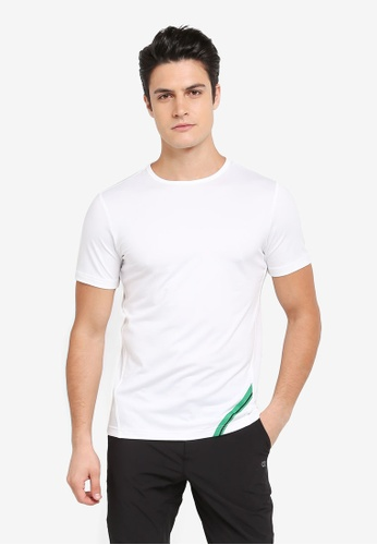 Calvin Klein white Diagonal Print Short Sleeve T-Shirt - Calvin Klein Performance D7724AAA626427GS_1
