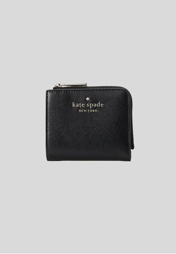 Kate Spade black Kate Spade Staci Small L-Zip Bifold Wallet WLR00143 Black 82D3BAC2CC46A5GS_1