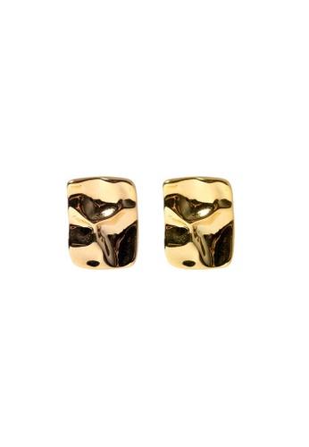 SKEDA gold Gold Hammered Studs EF10CAC757C0F4GS_1