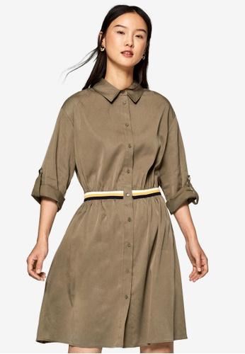 ESPRIT green Shirt Dress F4B44AA13F1ADEGS_1