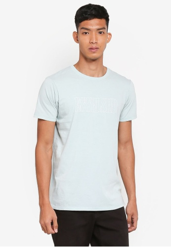 Cotton On 藍色 長版印花T恤 6ED8CAAE229139GS_1