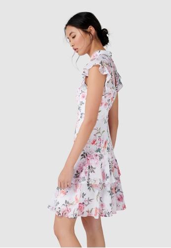 2b254cba6c Buy Forever New Amy Ruffle Sleeve Skater Dress Online on ZALORA Singapore
