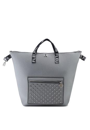 La Fille Des Fleurs grey Anita Studded Top-Handle Bag D3C67AC634EB76GS_1