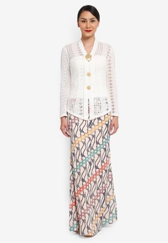 Syomirizwa Gupta for ZALORA white Aini Kebaya SY518AA0SXLOMY_1