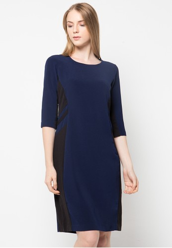 WHITEMODE navy Abril Dress WH193AA11WUYID_1
