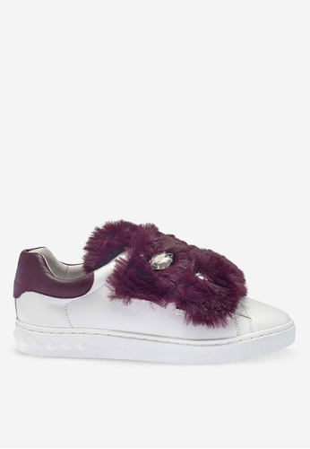 ASH white and red Panda - White Fur Low-Top Sneakers 8D4D0SHC215E81GS_1