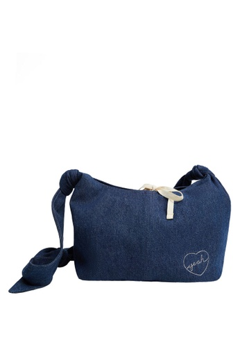 MANGO KIDS blue Long Handle Denim Bag 5E5B7KC205362CGS_1