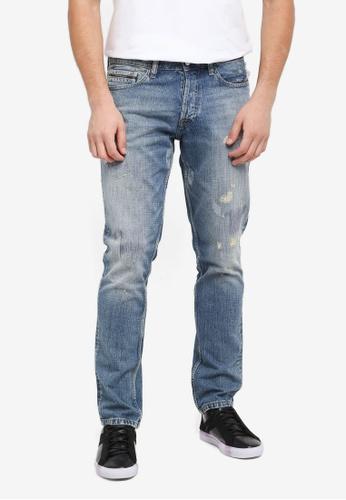 Calvin Klein blue Straight Taper Hell Jeans - Calvin Klein Jeans E6EE9AAE57602FGS_1