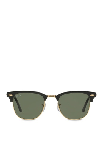 Ray-Ban 黑色 Clubmaster RB3016 Sunglasses RA370GL62RZLSG_1