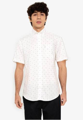 Ben Sherman white Scattered Geo Print Shirt 7910EAA3565CFDGS_1