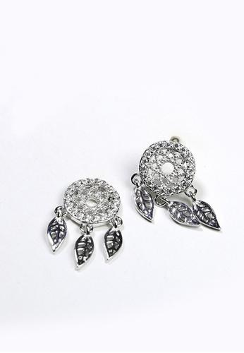LYCKA silver LPP03599 S925 Silver Leaf Earrings 5CAC2AC7865366GS_1