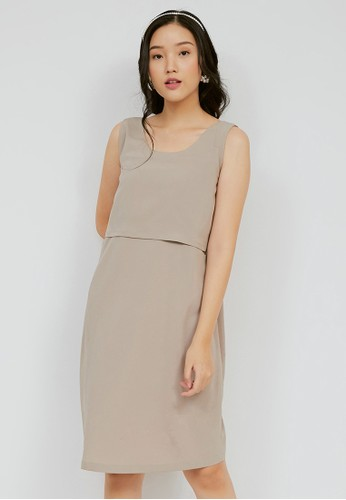 Chantilly beige Maternity/Nursing Dress Resya 53014 CC0EAAAEF018AAGS_1