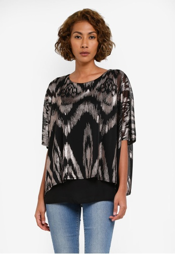 Wallis black Black Animal Print Layered Top WA800AA0RZHVMY_1