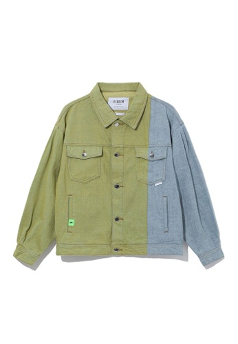 Fivecm yellow Contrast denim jacket 0BFF7AA648CC1FGS_1