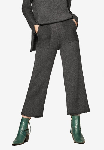 ESPRIT grey Regular Knitted Pants 85280AAF8DA06EGS_1