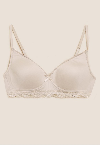 MARKS & SPENCER beige M&S Sumptuously Soft Full Cup First Bra BE3F3USE33B97DGS_1