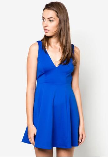 交叉露背小洋裝, zalora 衣服評價服飾, 洋裝