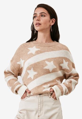 Trendyol brown Jacquard Detail Sweater E4D67AAA5F35ADGS_1