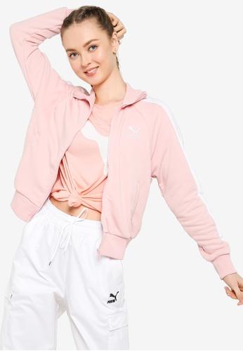 PUMA pink Iconic T7 Track Jacket CB0F6AA603B44AGS_1