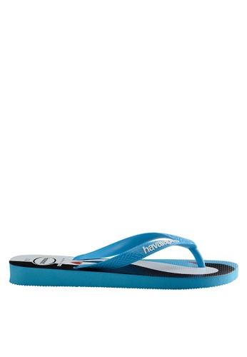 Havaianas blue Top Penguin 17 Flip Flops HA021SH0JPZQPH_1