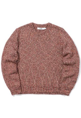 b+ab brown Intarsia knit sweater D83EBAA0C8CC86GS_1