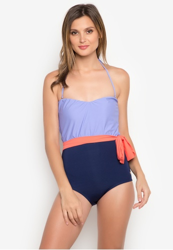 Naked Sun Swimwear purple Anthea Sweetheart Belted Tube Maillot NA317US0IZFSPH_1