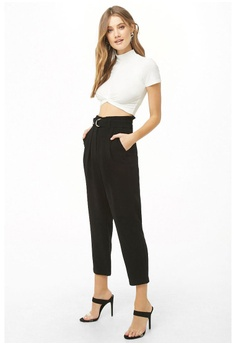 df010b8b246 FOREVER 21 Paperbag Ankle Pants RM 129.00. Sizes XS S M L