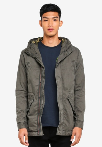 Superdry green New Rookie Military Parka 84F95AAA9A2DC6GS_1