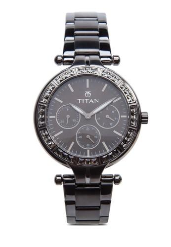 esprit 童裝多功能晶鑽圓框鍊錶, 錶類, 指針型