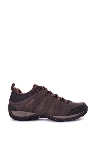 Columbia brown Woodburn II Waterproof Men's Shoes 95A79SH6332DF8GS_1
