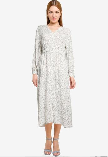 LOWRYS FARM white Printed Buttoned Dress 4DBD9AA3B2A0E3GS_1