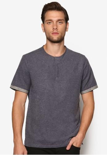 羅紋袖口亨利衫、 服飾、 T恤ZALORA羅紋袖口亨利衫最新折價