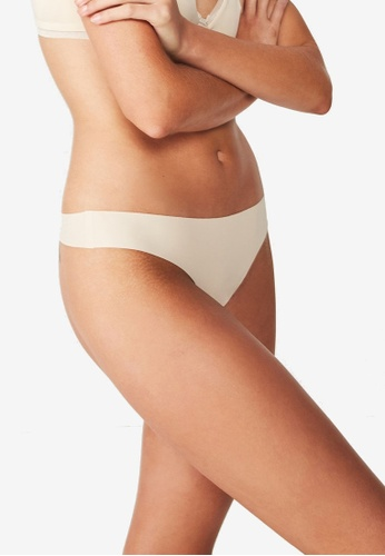 Cotton On Body beige Seamless Essential G-String CO418US35VQISG_1