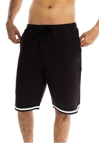 RYZ black RYZ Basketball Bonded Sweat Black Shorts. 7A002AAFDD53EDGS_1