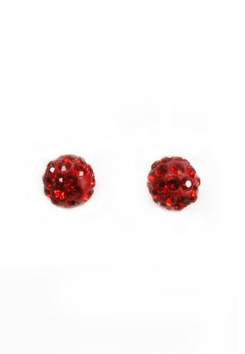 HEY SWEETY multi Crystal Ball Earrings HE303AC0J01NPH_1