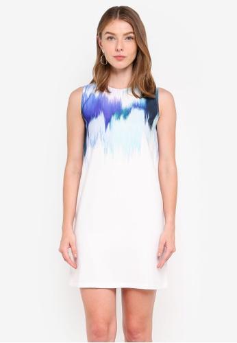 ZALORA multi Abstract Print Shift Dress 023F2AA26FF823GS_1