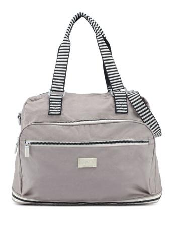 Bagstationz brown Crinkled Nylon Travel Big Bag With Zebra Strap  D68FBAC0058BDAGS 1 a62b0e709f910