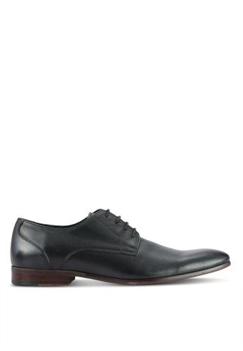 Dune London black Plain Toe Casual Leather Shoes DU588SH0RGZ4MY_1