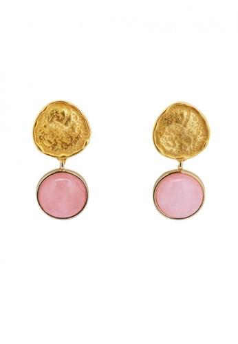 SKEDA pink Kyla Stone Pendant Drop Earrings AE21CAC3FAAAE0GS_1