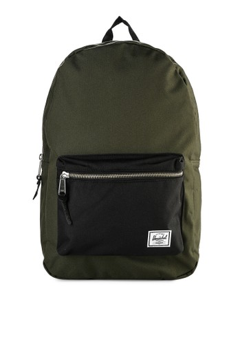 Herschel green and multi Settlement Backpack 48AB1AC365864BGS_1