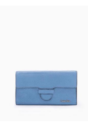 Calvin Klein blue Magnetic Tab Long Fold Wallet E5DC6ACAC86039GS_1