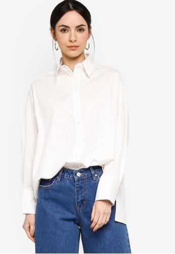 ZALIA BASICS white Boyfriend Shirt D3DA8AA8F566F0GS_1