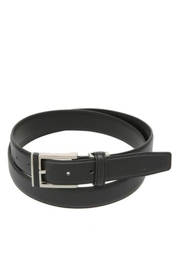 Louis Quatorze black Men's Leather Belt LO321AC96BRVSG_1