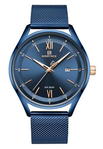 Naviforce blue Naviforce - Jam Tangan Pria - Blue - Stainless Steel Bracelet - NF3013-C BB282AC4214F3EGS_1