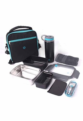 Slique green Lunch Box Set 5pcs 56524HL48740F1GS_1